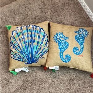 Two Lilly Pulitzer pillows
